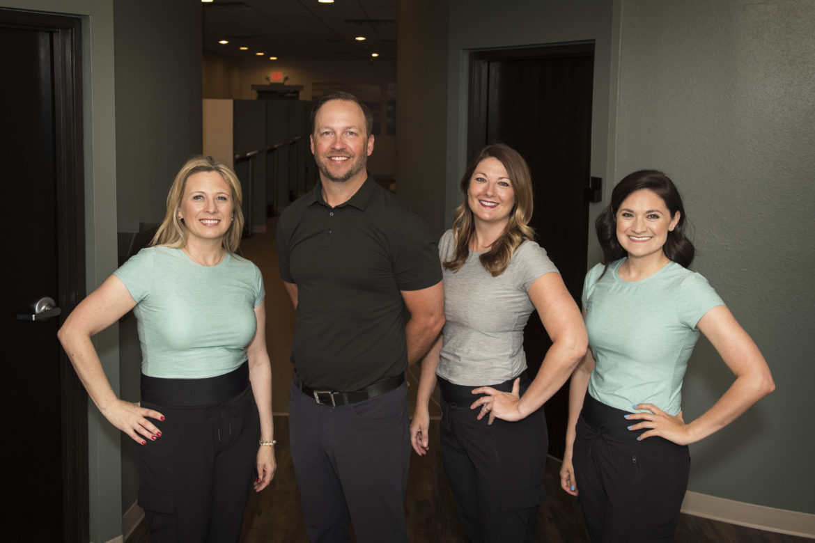 LiveWell chiropractic center staff with Dr. French.